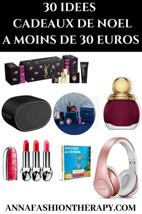 30 IDÉES DE CADEAUX DE NOEL À MOINS DE 30 EUROS