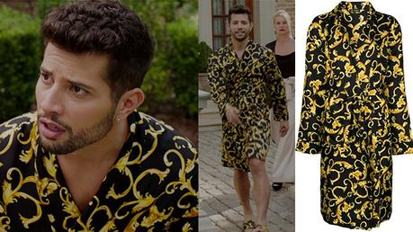 DYNASTY : Versace printed robe for Sam in s2ep07