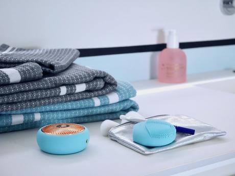 serviette le jacquard francais foreo avis massage - blog déco - clem around the corner