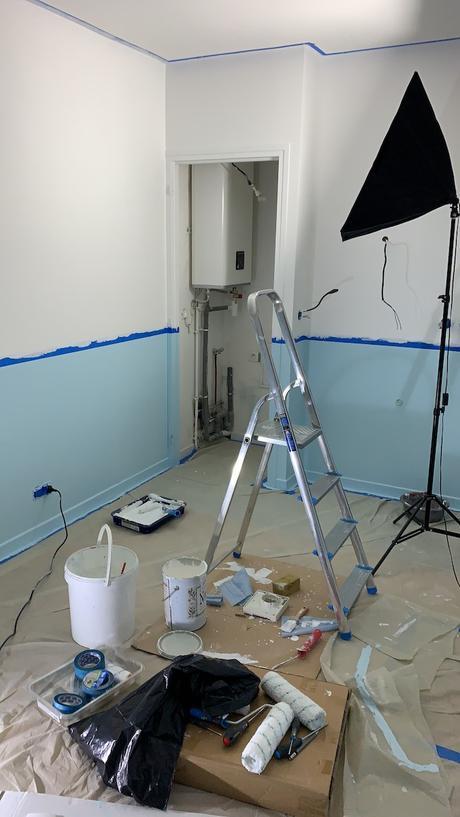 avant après salle de bain suite parentale peinture pure and paint avis - blog déco - clem around the corner