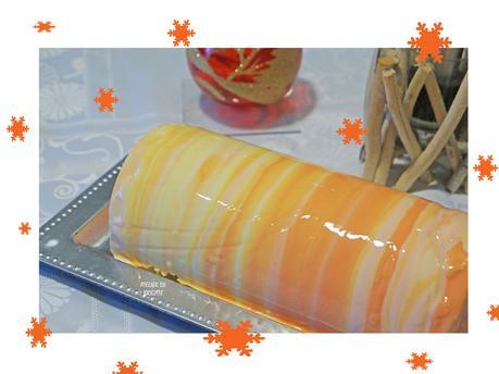 Bûche Mangue, Yuzu et Citron vert