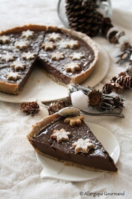 Tarte à la crème au chocolat { sans gluten, sans lait, sans oeufs }
