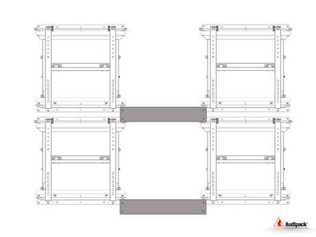 Audipack VWM-MH3 : le support repliable spécial mur d'images