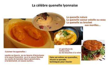 La véritable quenelle de Lyon, son origine et son histoire, recettes et visites virtuelles de Lyon