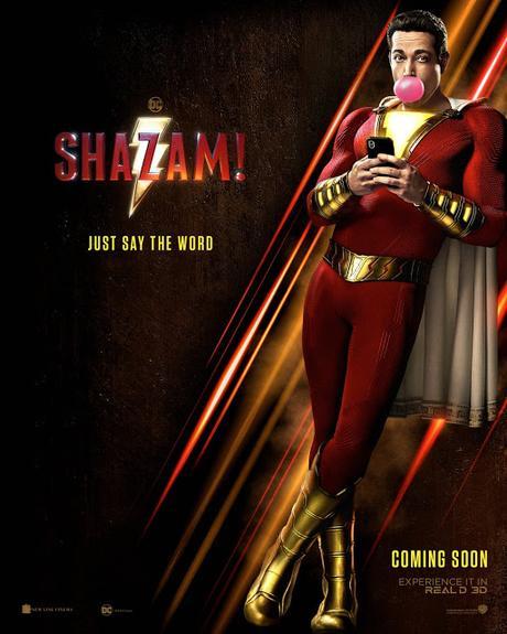 Première affiche teaser US pour Shazam de David F. Sandberg