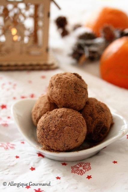Truffes à l'orange confite { sans gluten, sans lait, sans œufs}