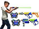 Lazer M.A.D. - 2 Blasters Lazer + 2 cibles + 2 plastrons + 1 silencieux + 1 cross + 1 booster + 1 poignée Multicolore