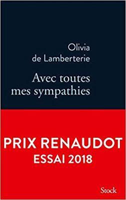 « Avec toutes mes sympathies » d'Olivia de Lamberterie