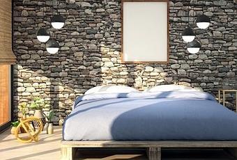 3D Chambre à coucher Grotte Mer R1266 Papier Peint Mural Auto-adhésif COMMERCE Amy