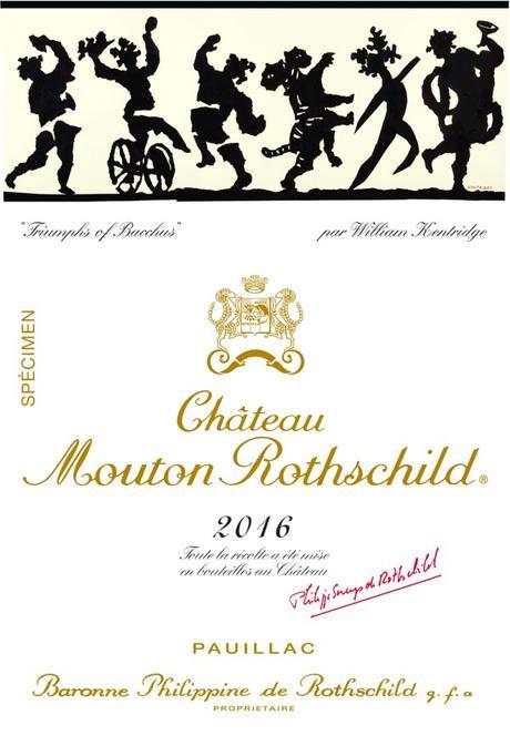 WILLIAM KENTRIDGE ILLUSTRE L'ETIQUETTE DE CHATEAU MOUTON ROTHSCHILD 2016