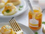 Noix saint-Jacques, confiture orange-yuzu