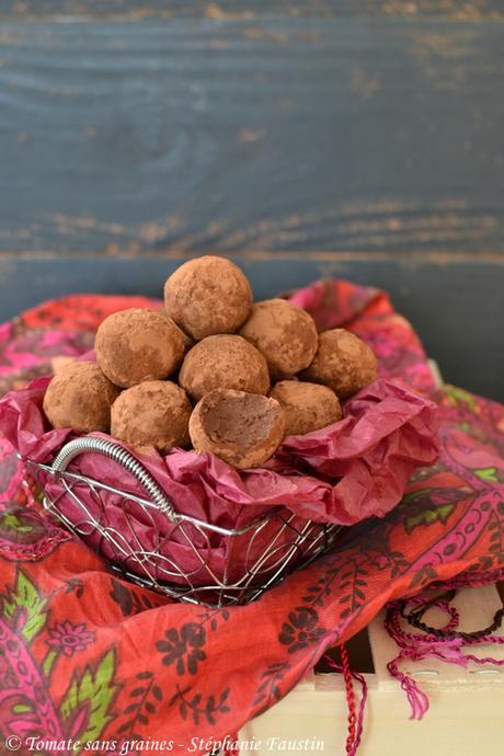 Truffes au chocolat vegan/végétales/végétaliennes