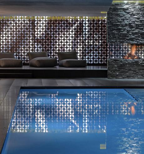 hotel chic en pleine montagne piscine spa repos détente blog déco clem around the corner