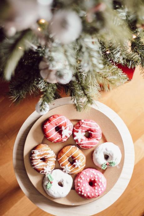 Donuts de Noël glaçage au sucre