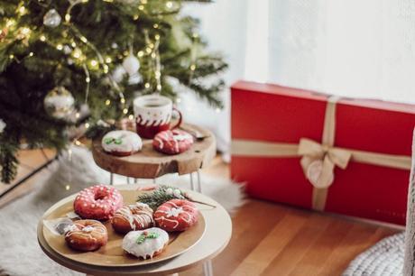 Donuts de Noël décorations en sucre