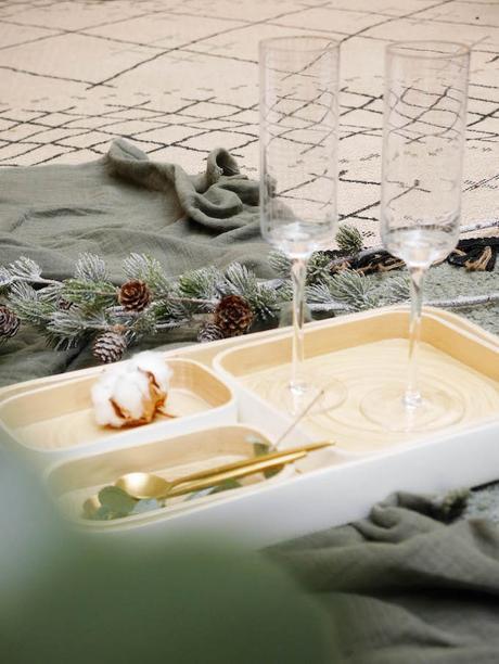 diner romantique de Noël en couple repas de fêtes réveillon idée table hygge - blog déco - Clem around the corner