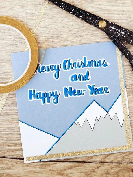 carte de voeux fin d'année montagne feutre blog déco clem around the corner