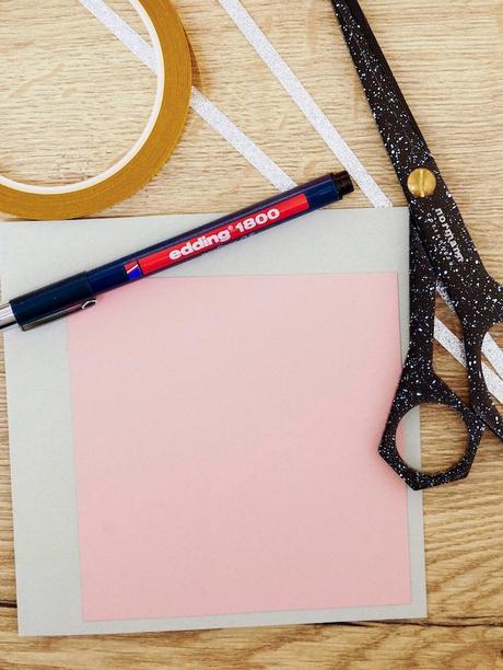 carte de voeux fin d'année fleurs matériel design scotch double face dessin stylo rose blog déco clem around the corner