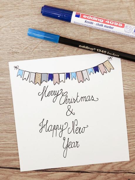 Carte de voeux fin d'année à faire soi-même