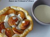 Tartelette boudin blanc, compotée pomme épices, sauce Crémant d'Alsace