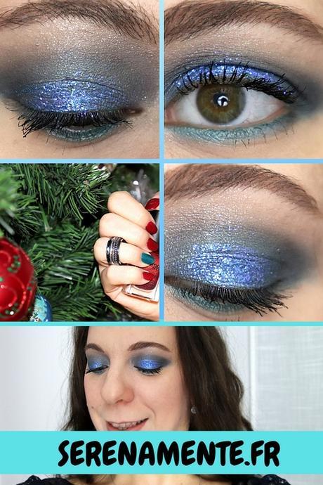 Mon maquillage de fêtes bleu et pailleté avec Kiko !
