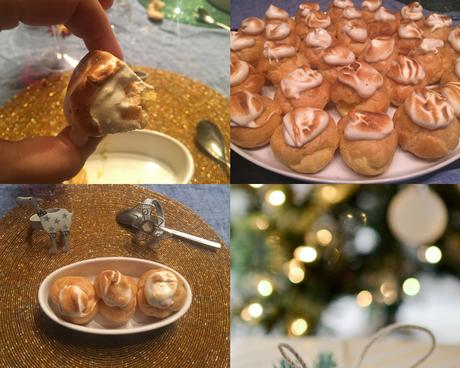 Couronne de choux au lemon curd et meringue