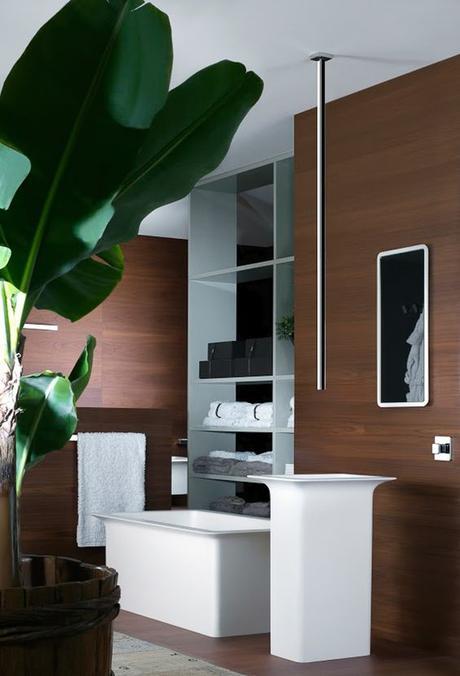 salle de bain theme nature teck acajou palmier bois - Blog déco - Clem around the corner