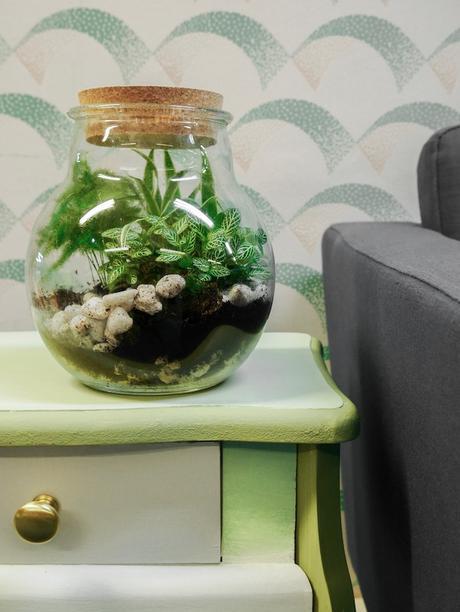 customiser une table de chevet terrarium plante tables blog déco clem around the corner