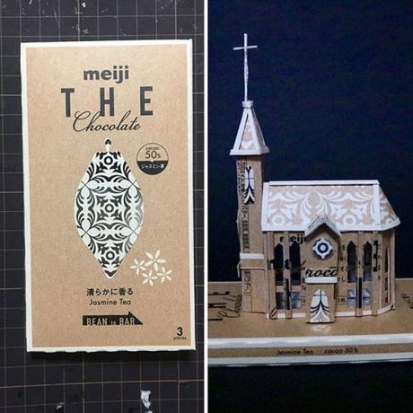 Un artiste japonais transforme les packaging de ses produits en oeuvres d'art.