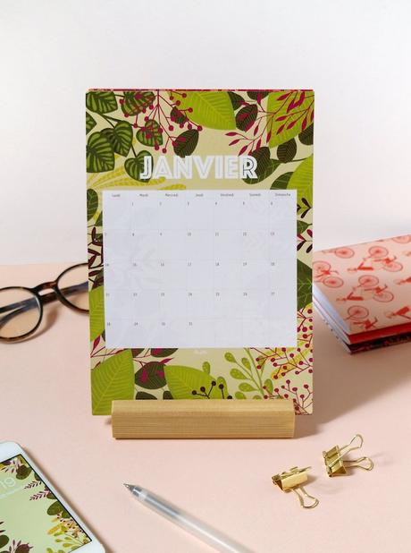 calendrier 2019 original motif graphique janvier blog déco clem around the corner