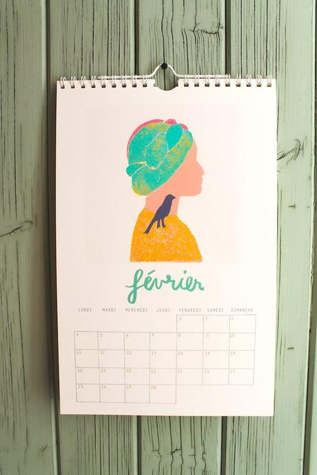 calendrier 2019 original illustration color pop blog déco clem around the corner
