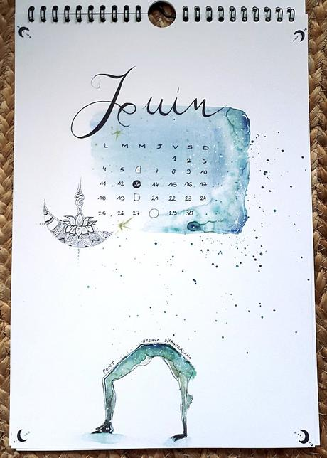 calendrier 2019 original juin phases lune yoga blog déco clem around the corner