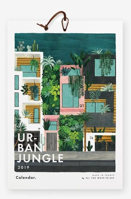 calendrier 2019 original urban jungle plante architecture blog déco clem around the corner