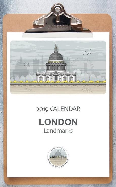calendrier 2019 original londres architecture ville monde blog déco clem aound the corner