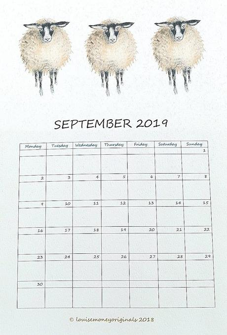 calendrier 2019 original illustration animaux enfant blog déco clem around the corner