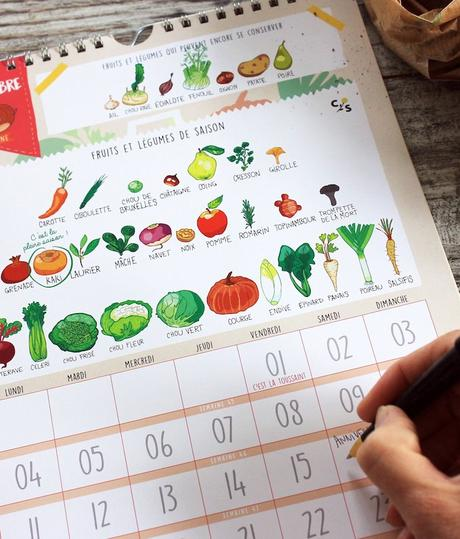 calendrier 2019 original fruits et légumes de saison novembre blog deco clem around the corner