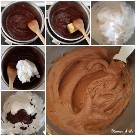 Roulé imprimé à la mousse au chocolat