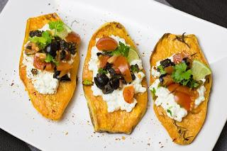 Recette de canapés de patates douces au guacamole [sans gluten, vegan]