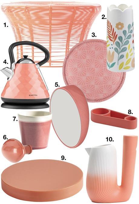 couleur de l'année pantone 2019 shopping liste cuisine salon décoration blog déco clem around the corner