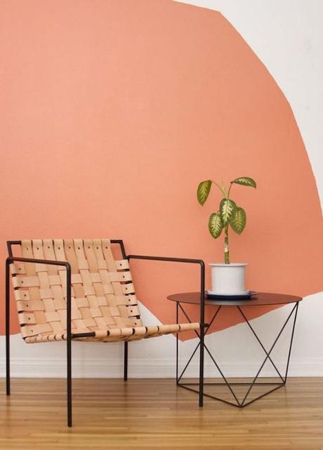 couleur de l'année pantone 2019 living coral peindre ses mur orange et blanc blog déco clem around the corner