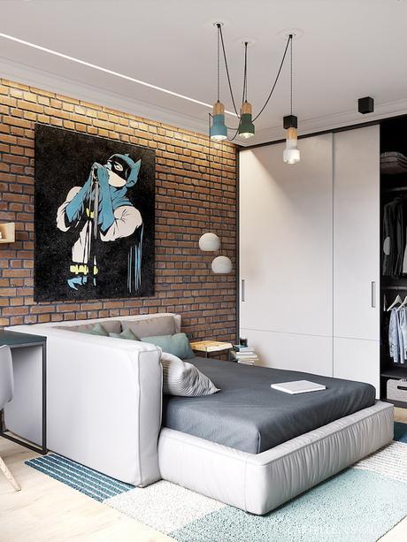 chambre ado batman canapé lit 3 pièces de Saint Pétersbourg - blog déco - Clem Around The Corner