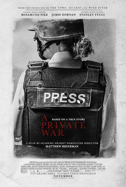 Nouvelle affiche UK pour A Private War de Matthew Heineman
