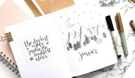 Bullet journal #12  Set up 2019 + janvier sous les étoiles
