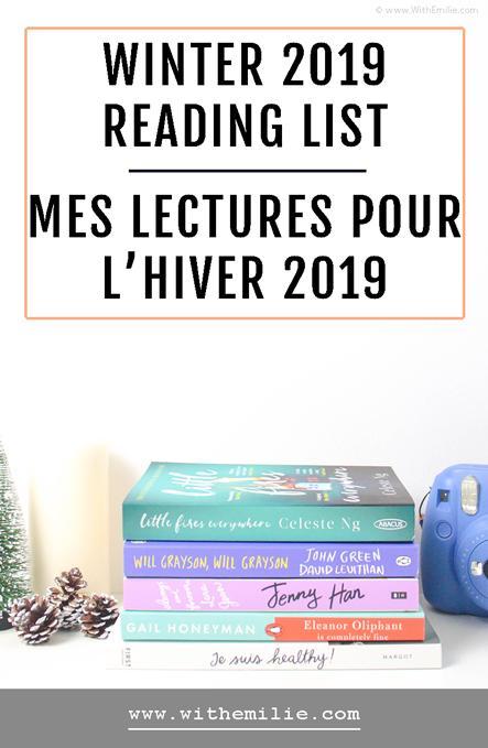 Mes lectures pour l'hiver | Edition 2019