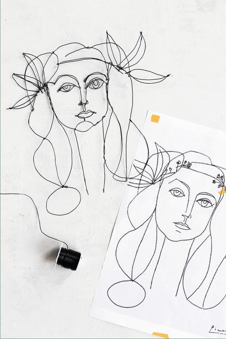 DIY Picasso Wire Art (+ modèles pour s'inspirer et réaliser sa décoration murale en fil de fer !) - www.decocrush.fr   @decocrush