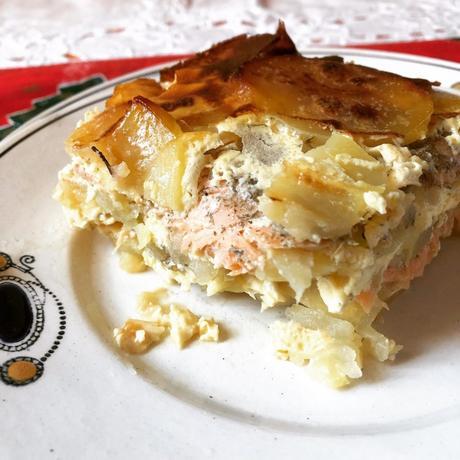 laxpudding ou pudding de saumon