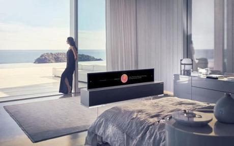 CES2019 : LG présente sa TV OLED enroulable.