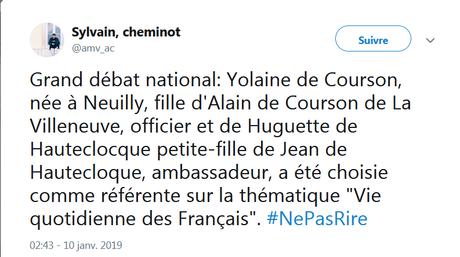 Vive Yolaine pour le Grand Débat !