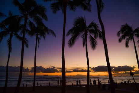 coucher soleil honolulu