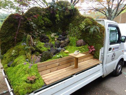 Jardin sur camionnettes